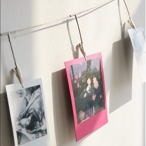 Metal photo clips